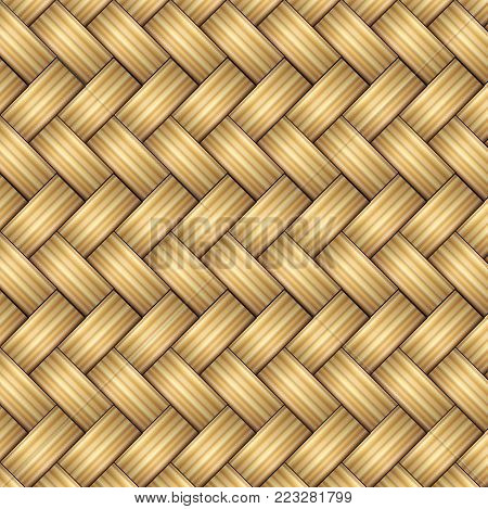 This illustration represents a wicker background, ideal as a wicker can.