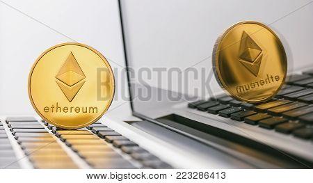 Bitcoin Bubble Burst - Bitcoin-crash - Digital Cryptocurrency Concept Image