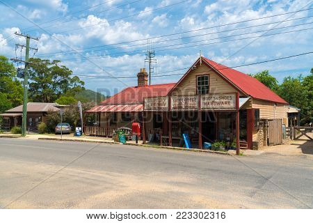 Street View Of Historical Old Village Of Wollombi In Australia