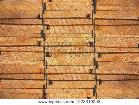 texture cut oak flooring, macro