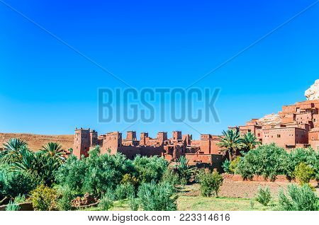 View on Oasis Ait Ben Haddou in Morocco
