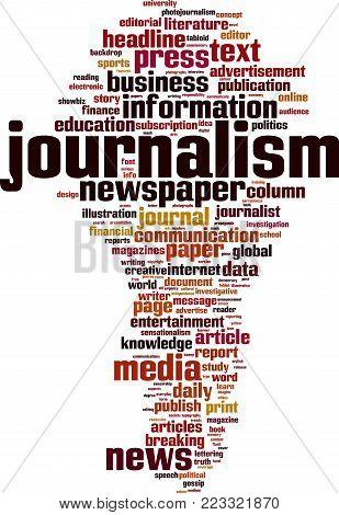 Journalism Word Cloud Vector & Photo (Free Trial) | Bigstock