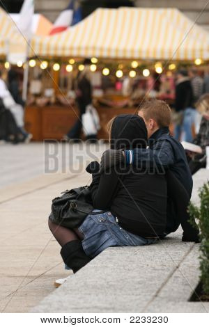 Love Couple In The Street