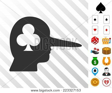 Gambling Jerk icon with bonus gamble clip art. Vector illustration style is flat iconic symbols. Designed for gamble gui.