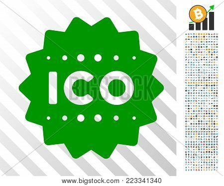 Ico Token pictograph with 700 bonus bitcoin mining and blockchain pictograms. Vector illustration style is flat iconic symbols designed for bitcoin software.
