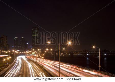 Night Scene  In Seoul Korea