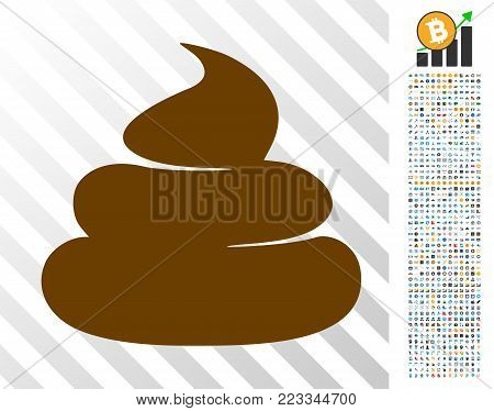Crap pictograph with 700 bonus bitcoin mining and blockchain icons. Vector illustration style is flat iconic symbols designed for cryptocurrency apps.