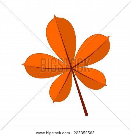 Fall Digitate Finger-like Lobes Leaf Vector Illustration Graphic Design