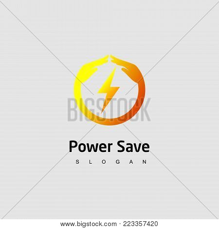 Power Save Logo, Design Template icon for website
