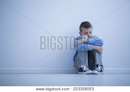 Sad Alienated Child With Autism