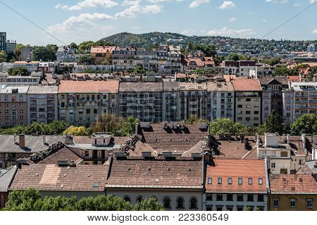 High angle view of Residential District in Buda from the Castle
