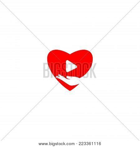 Love Media Logo, For Media Player Application