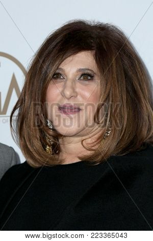 LOS ANGELES - JAN 20:  Amy Pascal at the Producers Guild Awards 2018 at the Beverly Hilton Hotel on January 20, 2018 in Beverly Hills, CA