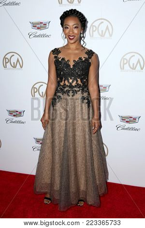 LOS ANGELES - JAN 20:  Betty Gabriel at the Producers Guild Awards 2018 at the Beverly Hilton Hotel on January 20, 2018 in Beverly Hills, CA