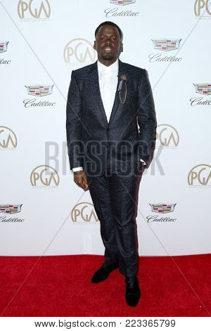 LOS ANGELES - JAN 20:  Daniel Kaluuya at the Producers Guild Awards 2018 at the Beverly Hilton Hotel on January 20, 2018 in Beverly Hills, CA