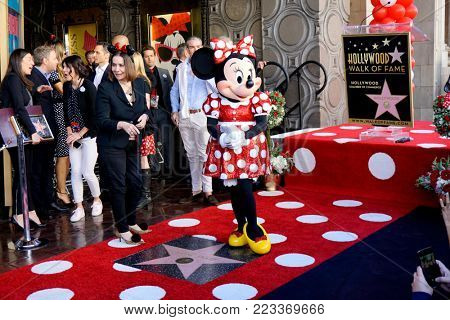 LOS ANGELES - JAN 22:  Minnie Mouse at the Minnie Mouse Star Ceremony on the Hollywood Walk of Fame on January 22, 2018 in Hollywood, CA