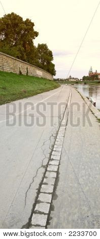 Path Along Krakow River (Poland)