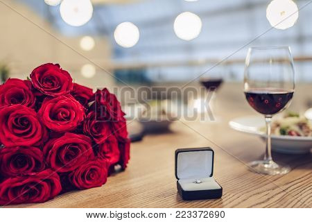 Romantic Dinner In Restaurant