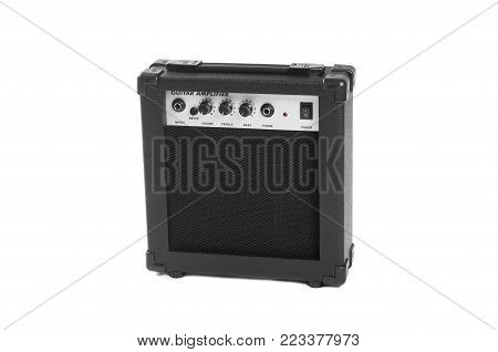 Guitar amplifier isolated on white background. This has clipping path.