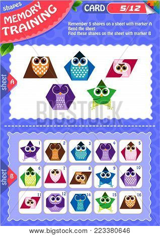 Memory Game Children Shapes 2