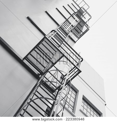 Steel Stairs Ladder Modern building Exterior Architecture detail