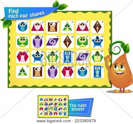 Memory Game Children Shapes 8