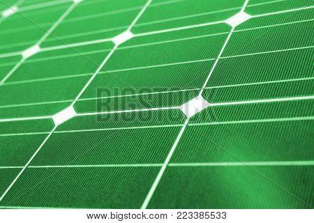 Green energy, Close up of green solar panel