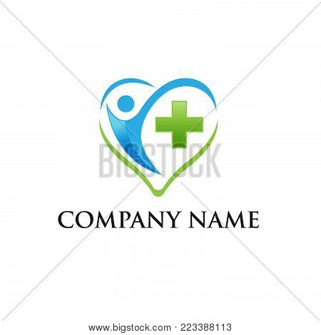 Medical logo, medical center logo,heart logo, health logo, doctor logo, medicine logo, medical icon. Logo design template for clinic, hospital, medical center, doctor,EPS 8,EPS 10