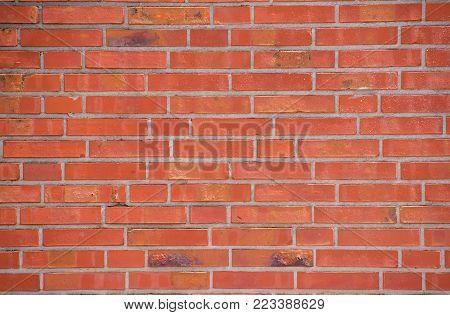 Red brick wall. wallpaper foto. background foto