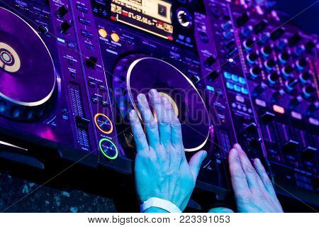 Dj Playing The Track