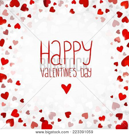 Vector bright background for Valentines day. You can use for greeting cards, posters and design projects.