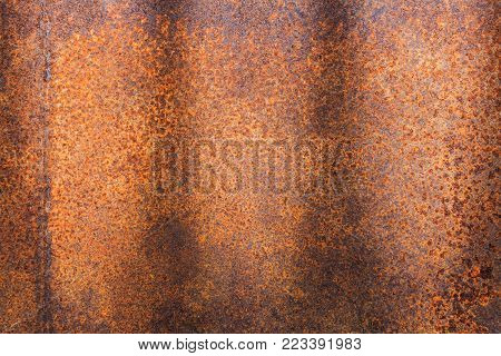 Rusty metal texture or rusty metal background. rusty metal for interior exterior decoration design business and industrial construction concept design. Rusty metal is caused by moisture in the air.