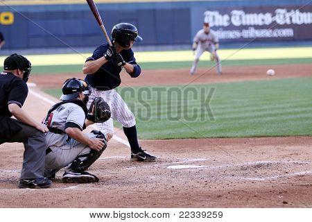 Scranton Wilkes Barre Yankees batter Brandon Laird