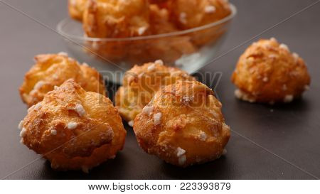 chouquette, french choux pastry