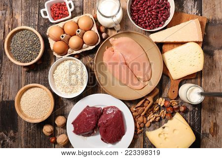 selection of protein food