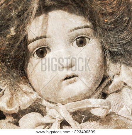 Abandoned Doll With Glass Eyes
