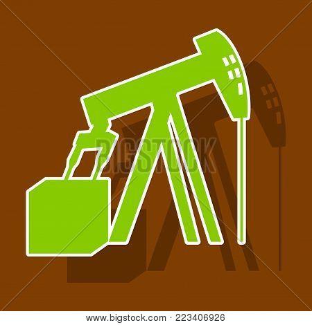 paper sticker on theme Arabic business oil derrick