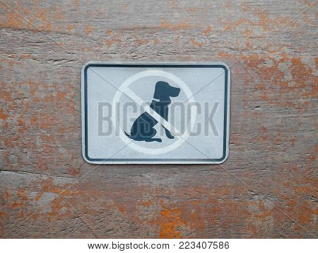 No dogs allowed sign on the door