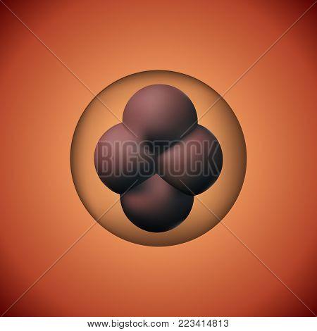 Zygote human vector illustration. 3D image reproduction development. Scientific artificial clone.