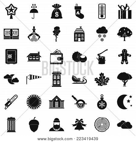 Rural life icons set. Simple set of 36 rural life vector icons for web isolated on white background