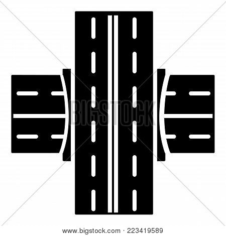 Bridge over roadicon. Simple illustration of bridge over road vector icon for web.