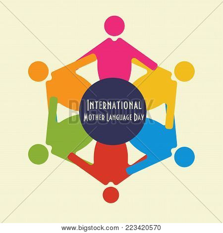 Vector illustration for International Mother Language Day materials. International Mother Language Day or IMLD is held to promote awareness of linguistic and cultural diversity and multilingualism.