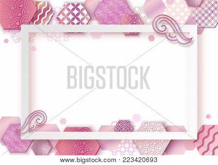 paper art pink frame vector photo free trial bigstock