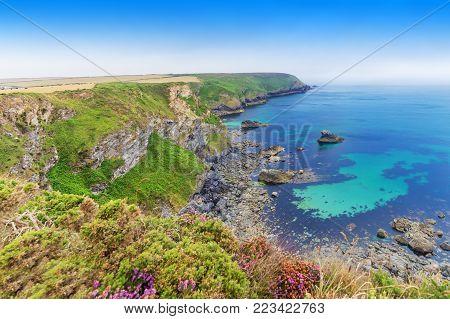 Popular St Agnes And Chapel Porth Atlantic Ocean Coast, Cornwall, England, United Kingdom