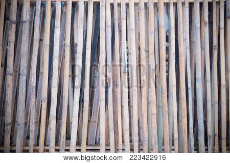 Bamboo Style Old Fence, Bamboo Texture Background