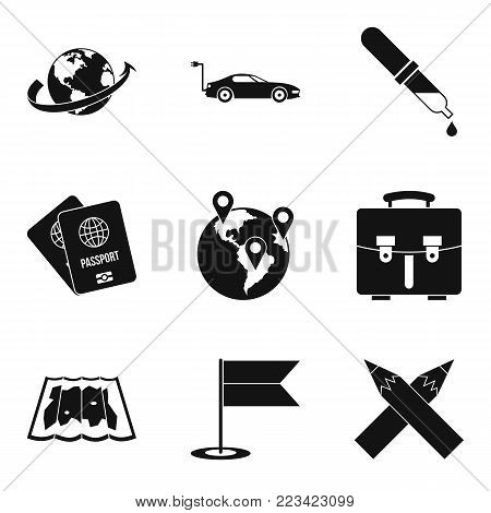 Planetary climate icons set. Simple set of 9 planetary climate vector icons for web isolated on white background