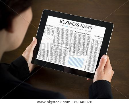 Reading Business News On Tablet PC