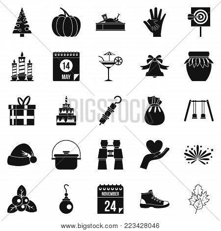 Family tradition icons set. Simple set of 25 family tradition vector icons for web isolated on white background