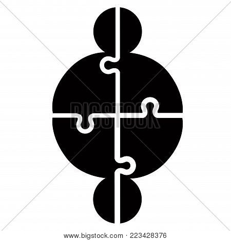 Jigsaw puzzle pieces. Teamwork concept image. Vector illustration design