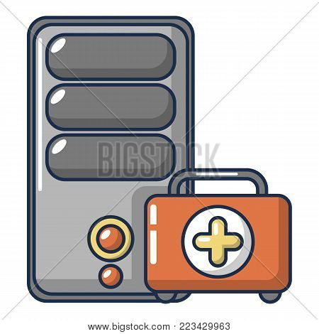 System unit repair icon. Cartoon illustration of system unit repair vector icon for web.